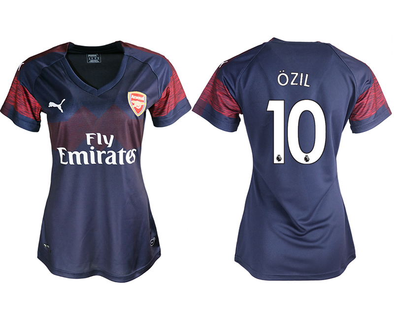 2018-19 Arsenal 10 OZIL Away Women Soccer Jersey