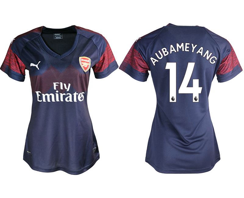 2018-19 Arsenal 14 AUBAMEYANG Away Women Soccer Jersey