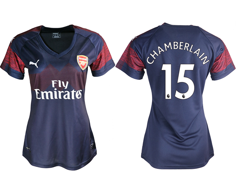 2018-19 Arsenal 15 CHAMBERLANIN Away Women Soccer Jersey