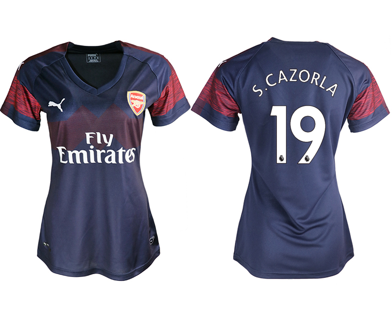 2018-19 Arsenal 19 S.CAZORLA Away Women Soccer Jersey