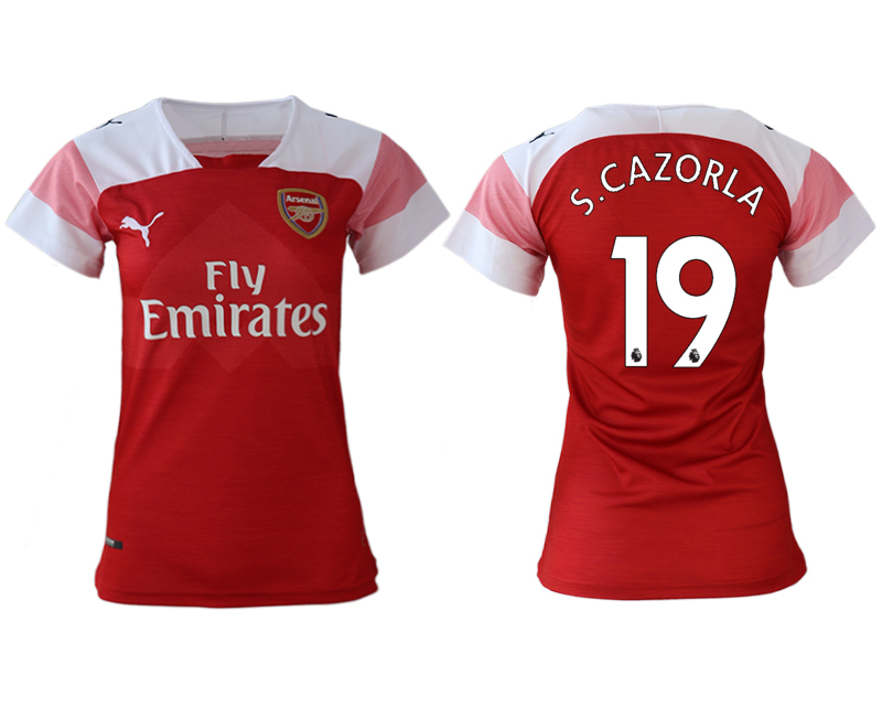 2018-19 Arsenal 19 S.CAZORLA Home Women Soccer Jersey
