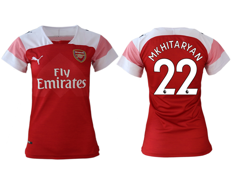 2018-19 Arsenal 22 MKHITARYAN Home Women Soccer Jersey