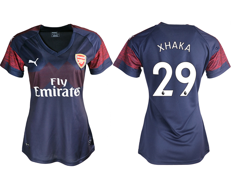 2018-19 Arsenal 29 XHAKA Away Women Soccer Jersey