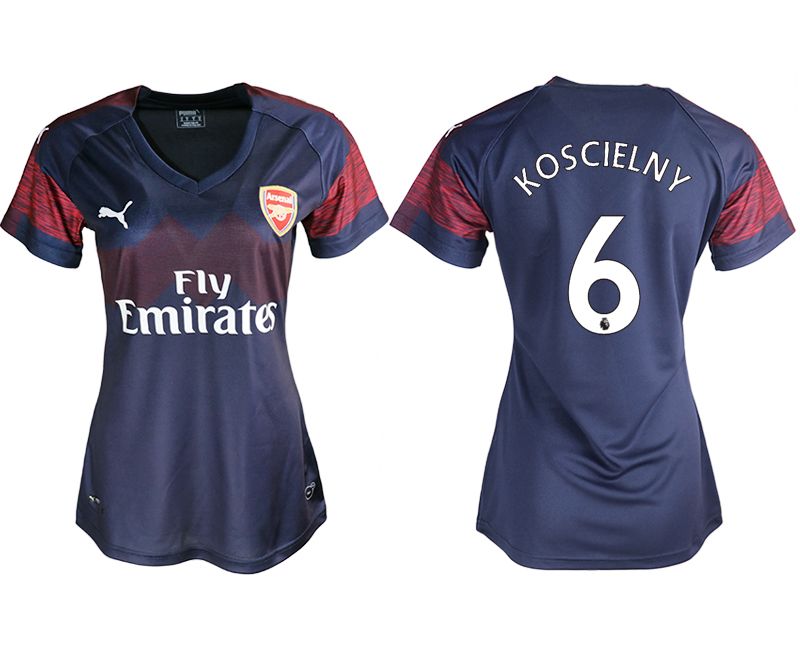 2018-19 Arsenal 6 KOSCIELNY Away Women Soccer Jersey
