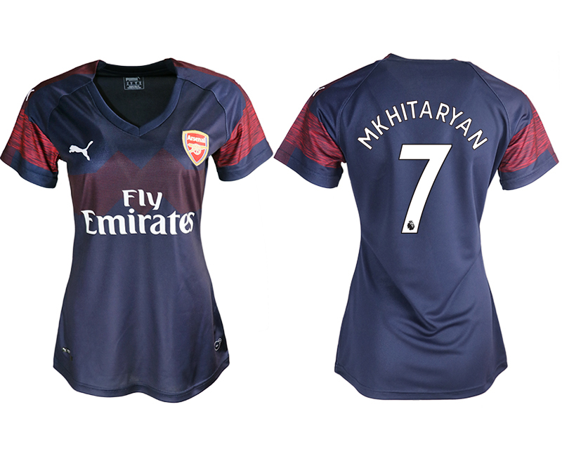 2018-19 Arsenal 7 MKHITARYAN Away Women Soccer Jersey