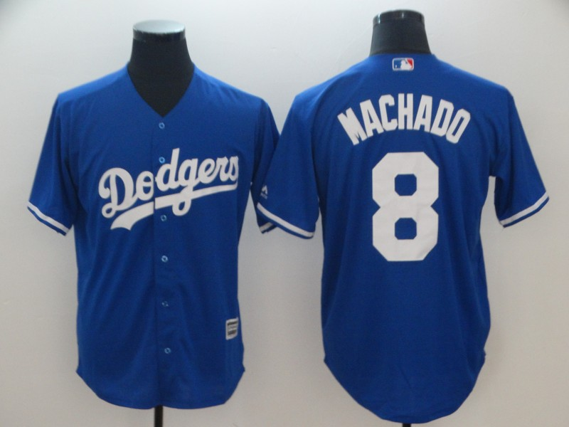 Dodgers 8 Manny Machado Royal Cool Base Jersey