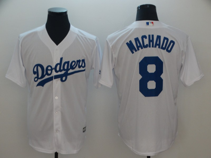Dodgers 8 Manny Machado White Cool Base Jersey
