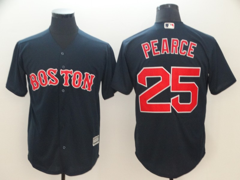 Red Sox 25 Steve Pearce Navy Cool Base Jersey