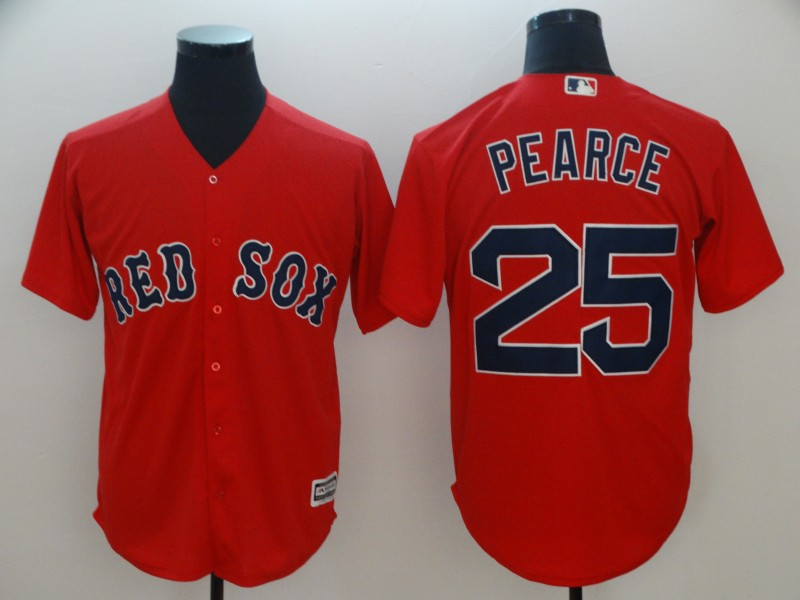 Red Sox 25 Steve Pearce Red Cool Base Jersey