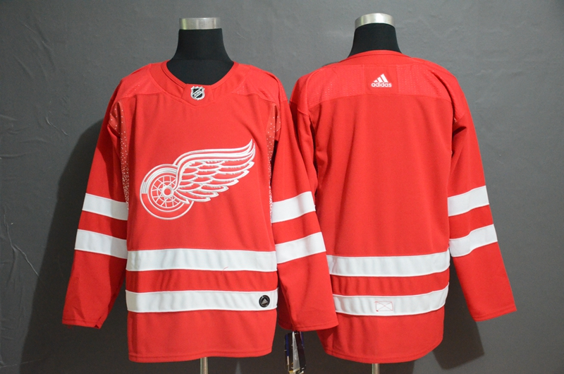 Red Wings Blank Red Adidas Jersey