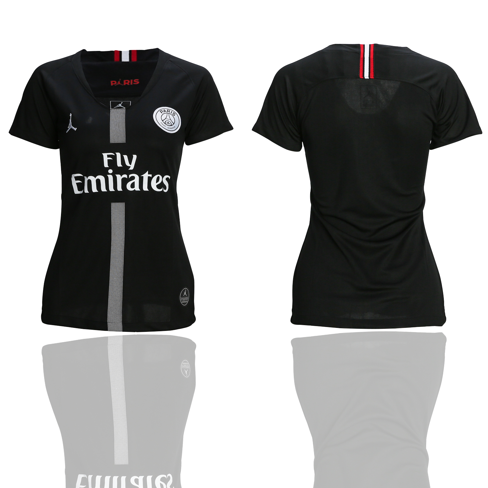 2018-19 Paris Saint-Germain Jordan Champions League Black Women Soccer Jersey