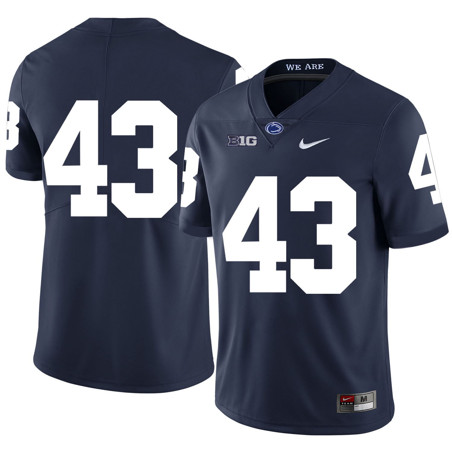 Penn State Nittany Lions 43 Mike Hull Navy Nike College Football Jersey