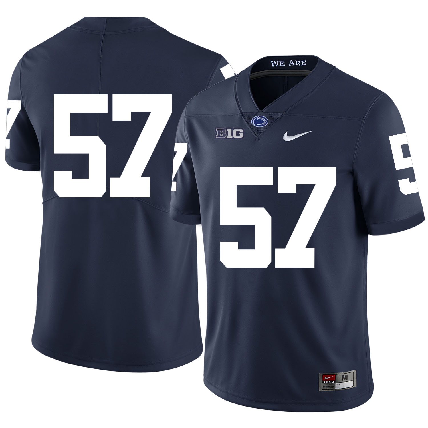 Penn State Nittany Lions 57 A.Q. Shipley Navy Nike College Football Jersey
