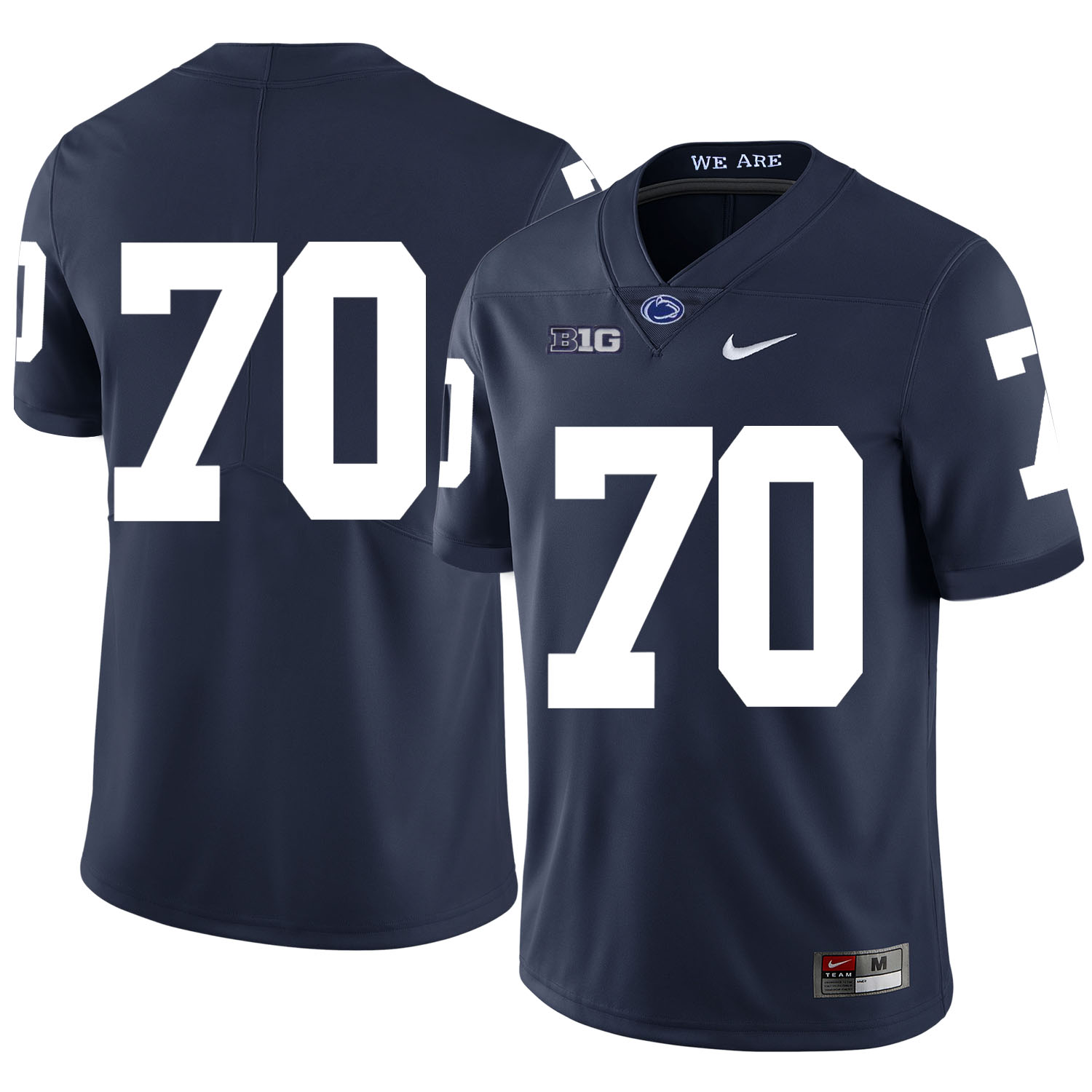 Penn State Nittany Lions 70 Mahon Blocks Navy Nike College Football Jersey