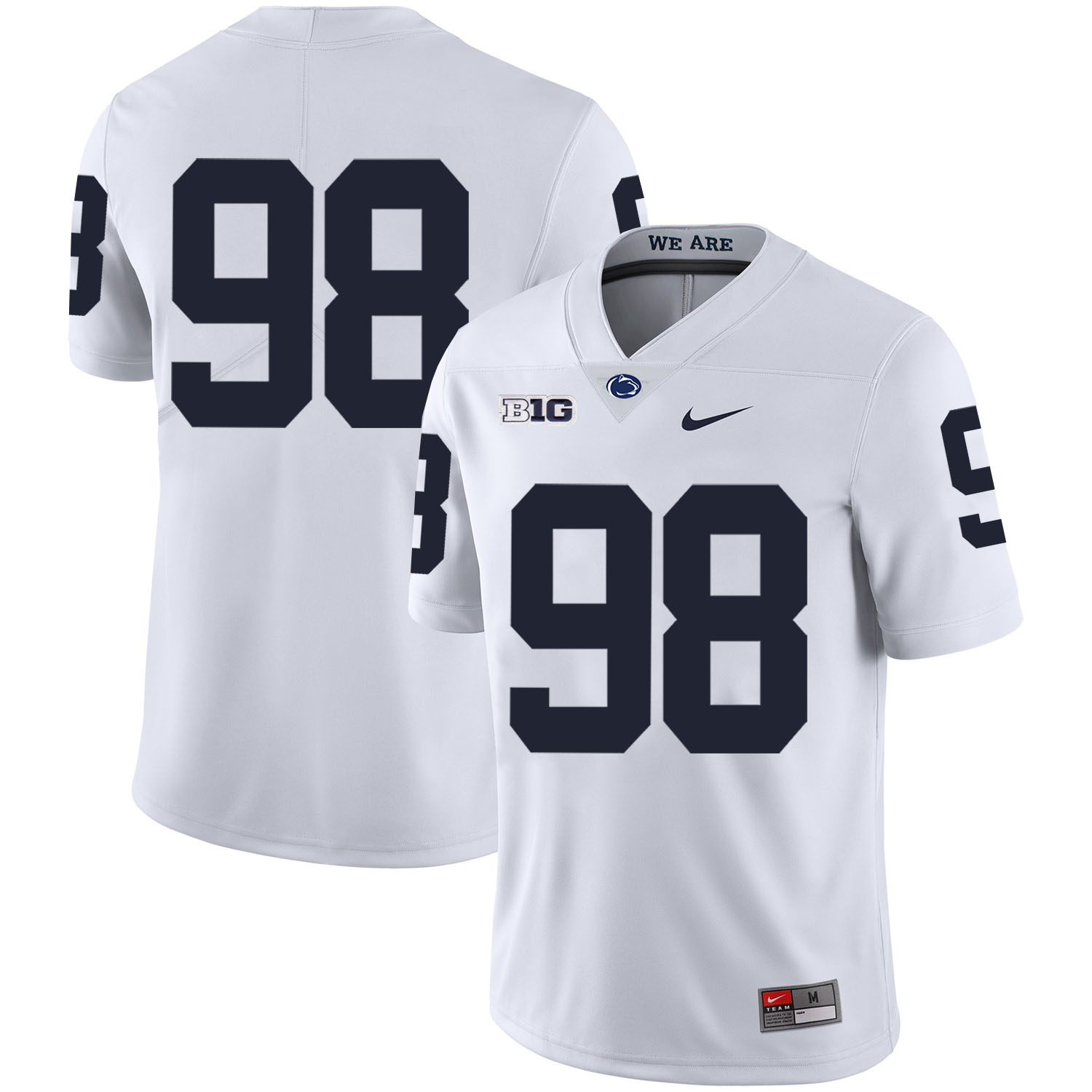Penn State Nittany Lions 98 Anthony Zettel White Nike College Football Jersey