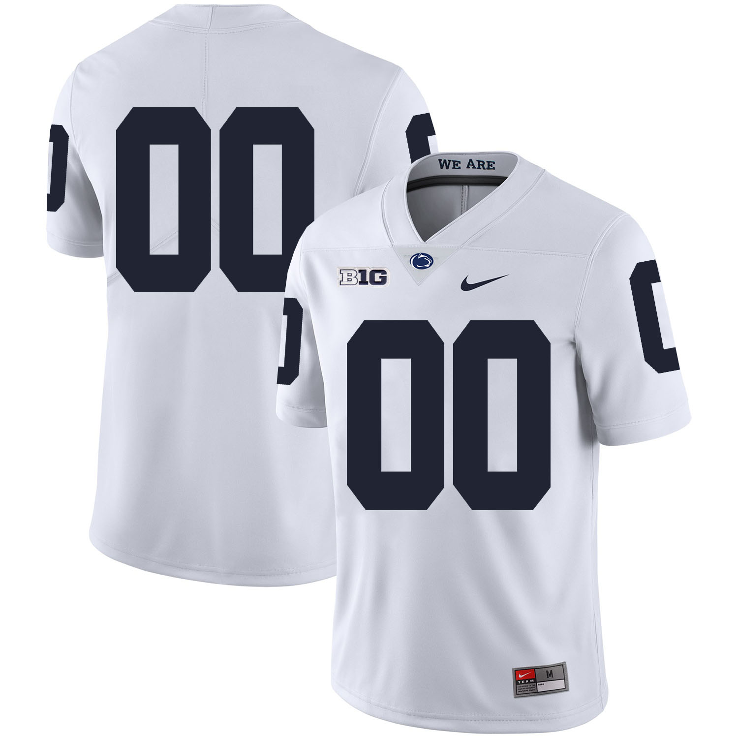 Penn State Nittany Lions White Men's Customized Nike College Football Jersey
