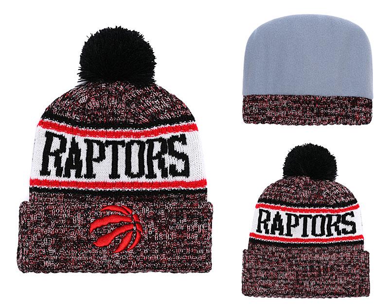 Raptors Banner Block Fashion Pom Knit Hat