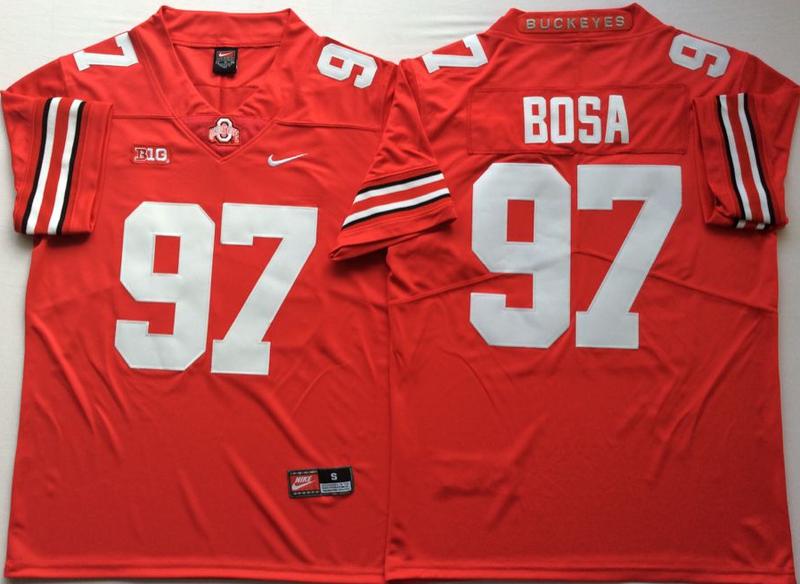 Ohio State Buckeyes 97 Joey Bosa Red Nike College Football Jersey