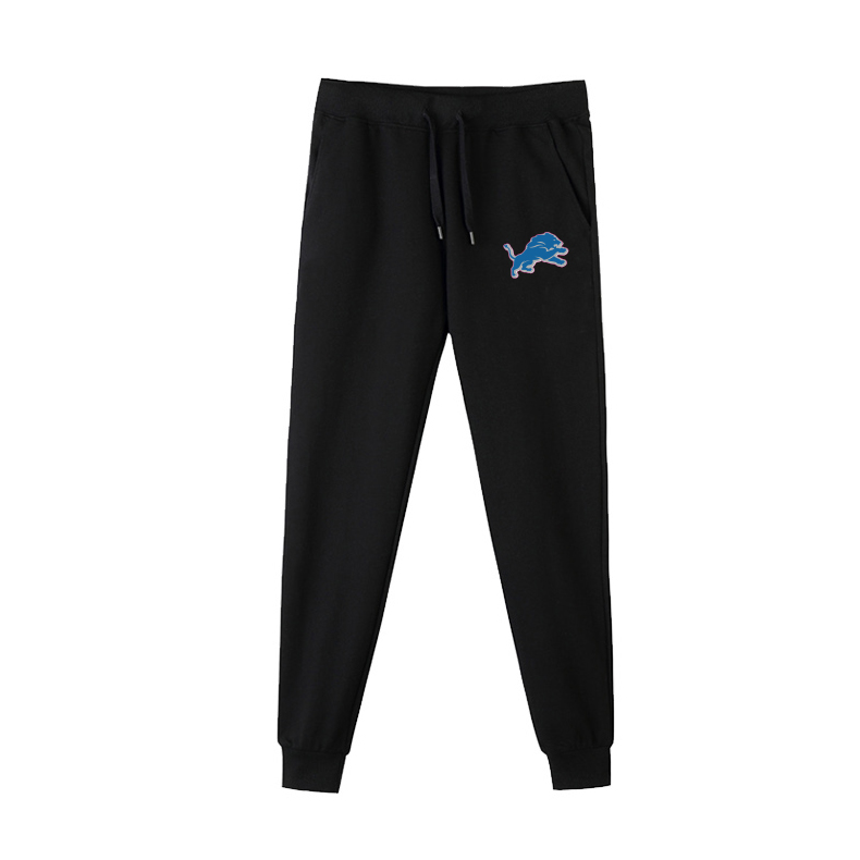 Detroit Lions Black Men's Winter Thicken NFL Sports Pant