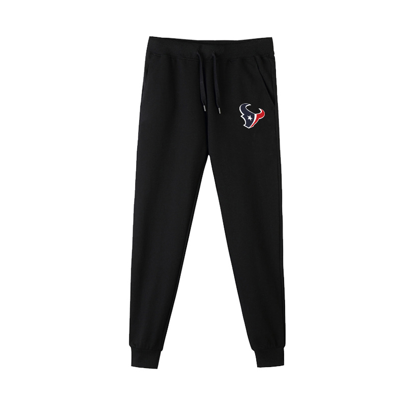Houston Texans Black Men's Winter Thicken NFL Sports Pant