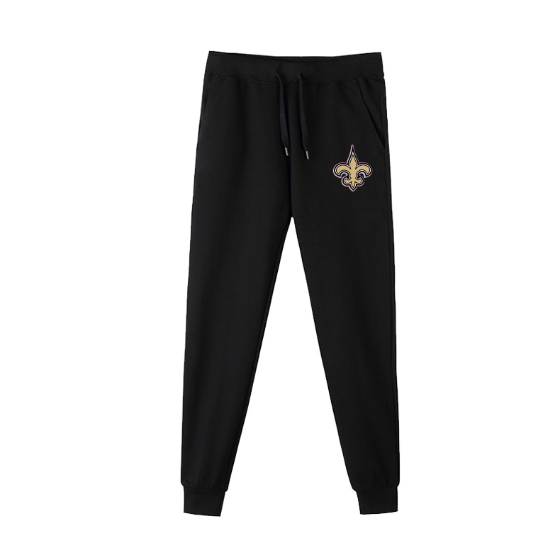 New Orleans Saints Black Men's Winter Thicken NFL Sports Pant