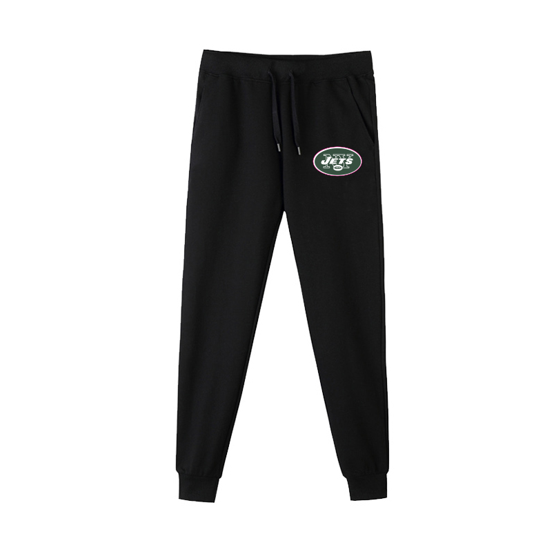 New York Jets Black Men's Winter Thicken NFL Sports Pant
