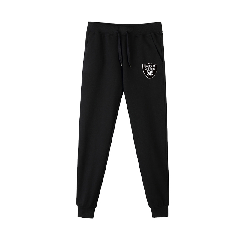 Oakland Raiders Black Men's Winter Thicken NFL Sports Pant