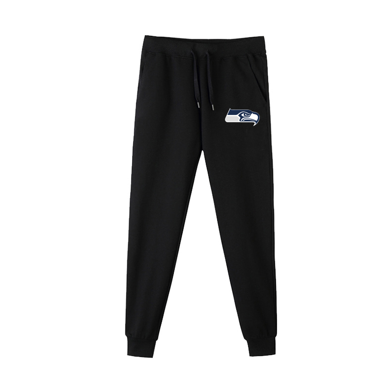 Seattle Seahawks Black Men's Winter Thicken NFL Sports Pant
