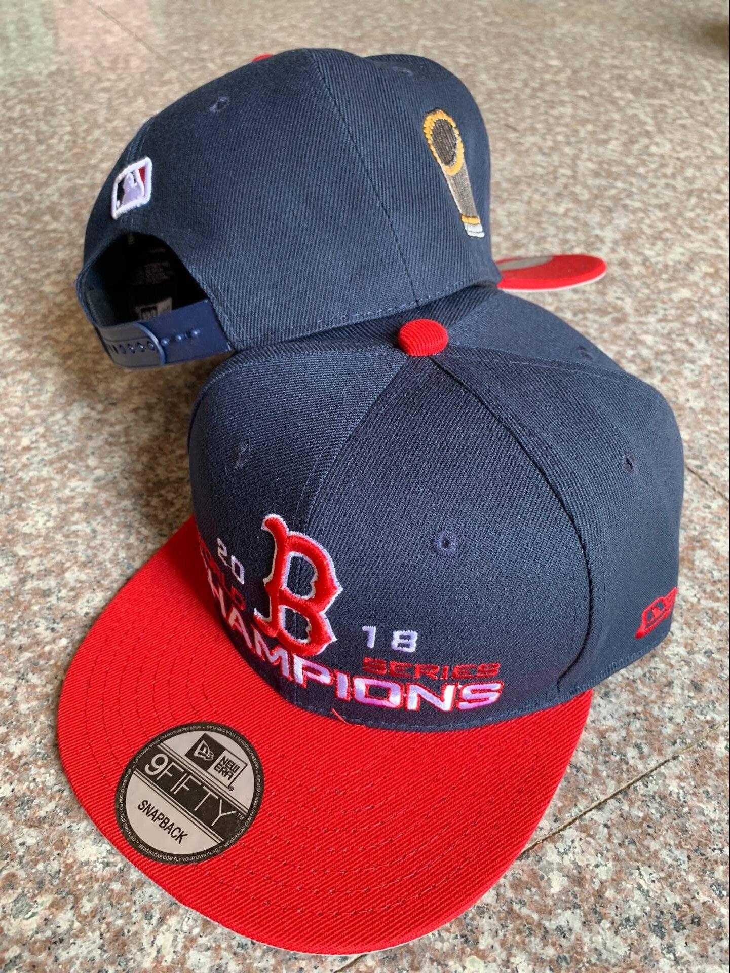 Red Sox Navy 2018 World Series Champions 2 Tone Adjsutable Hat YD
