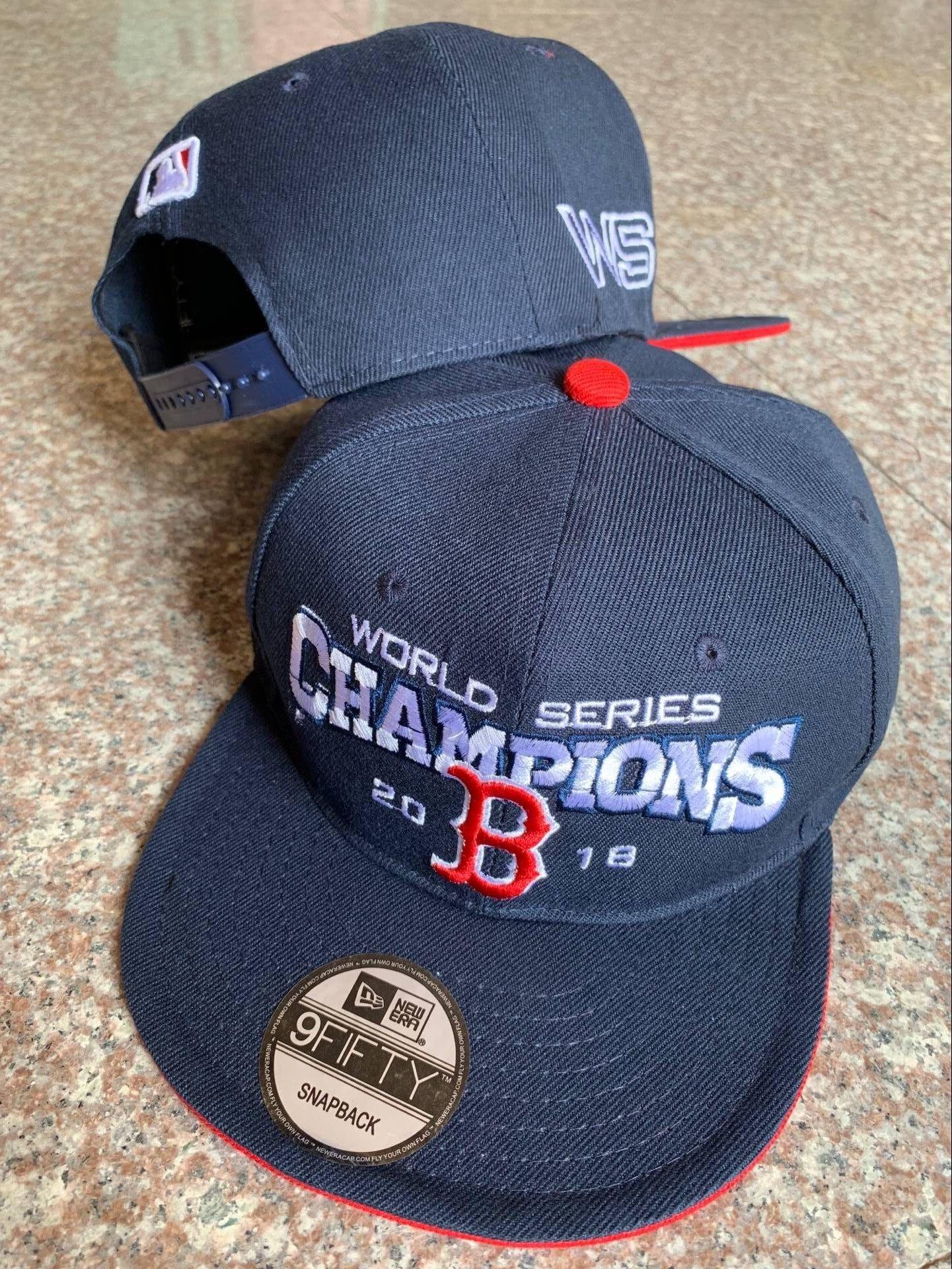 Red Sox Navy 2018 World Series Champions Adjsutable Hat YD