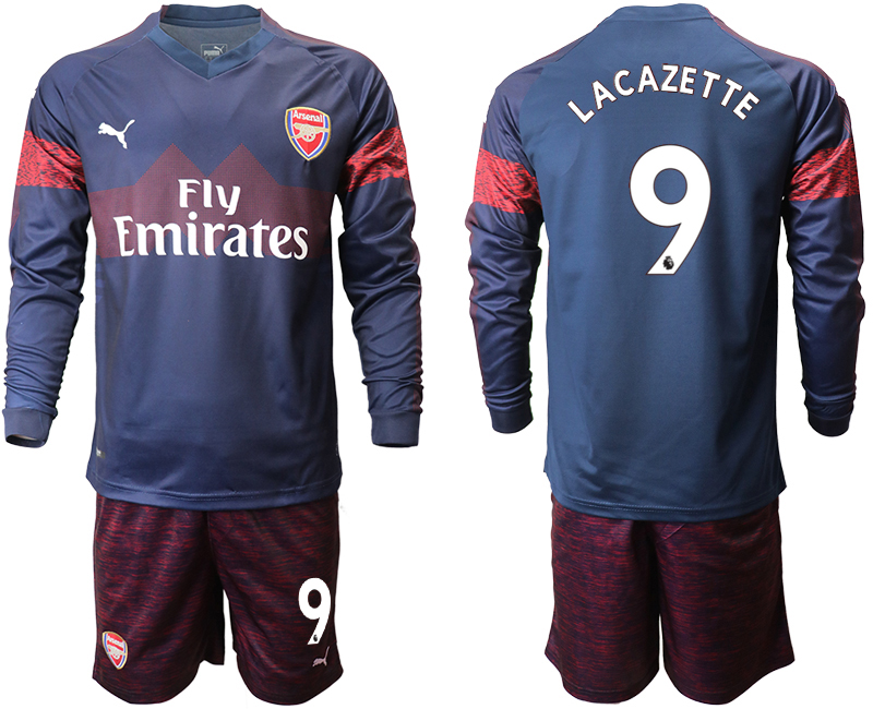 2018-19 Arsenal 9 LACAZETTE Away Long Sleeve Soccer Jersey