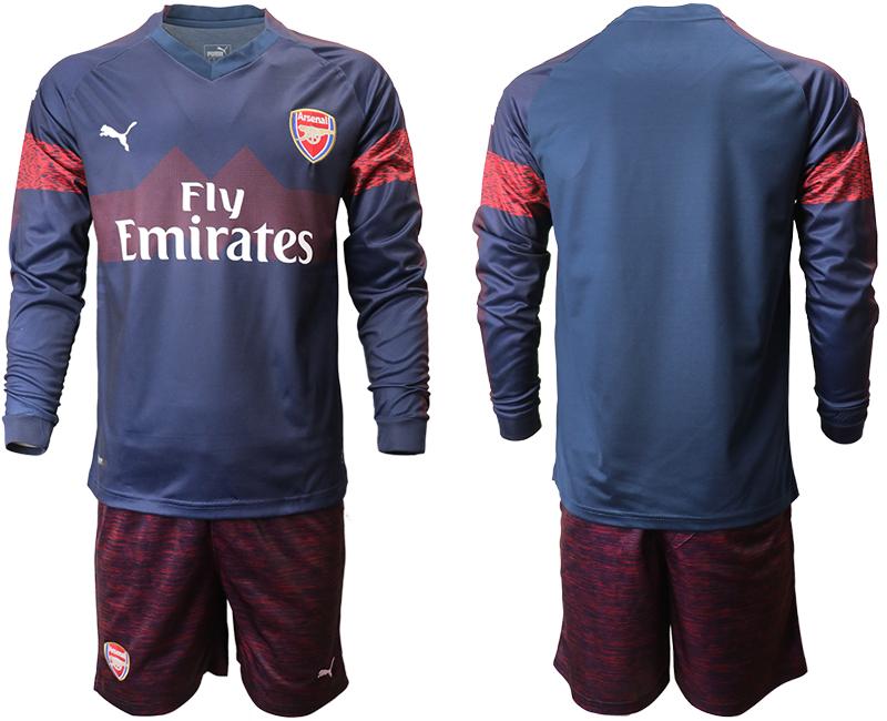 2018-19 Arsenal Away Long Sleeve Soccer Jersey