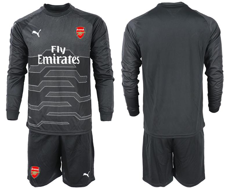 2018-19 Arsenal Black Long Sleeve Goalkeeper Soccer Jersey