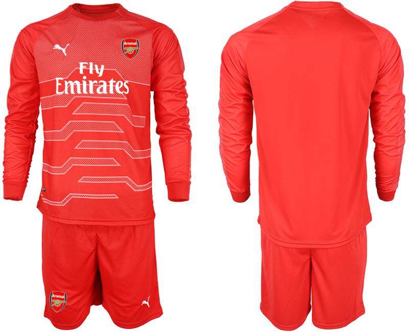 2018-19 Arsenal Red Long Sleeve Goalkeeper Soccer Jersey