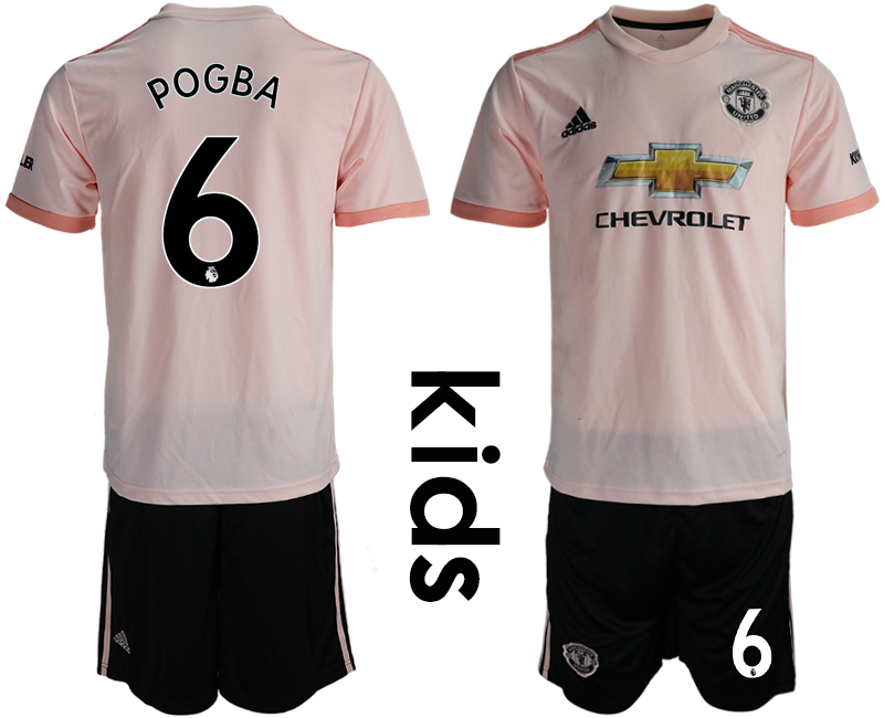 2018-19 Manchester United 6 POGBA Away Youth Soccer Jersey