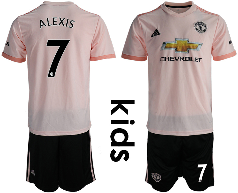 2018-19 Manchester United 7 ALEXIS Away Youth Soccer Jersey