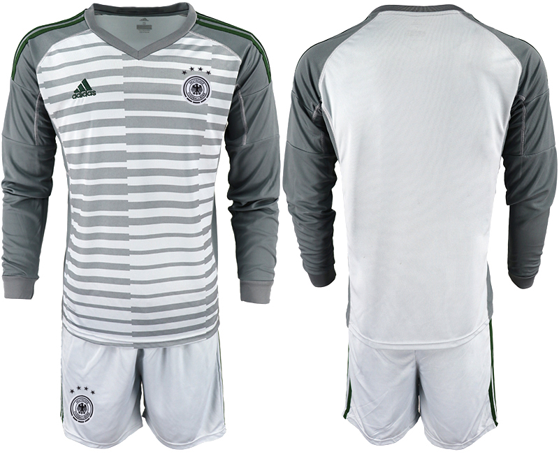 2018-19 Germany Gray Long Sleeve Goalkeeper Soccer Jersey