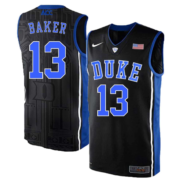 Duke Blue Devils 13 Joey Baker Black Elite Nike College Basketball Jersey