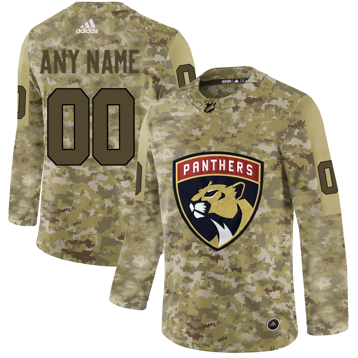 Florida Panthers Camo Men's Customized Adidas Jersey