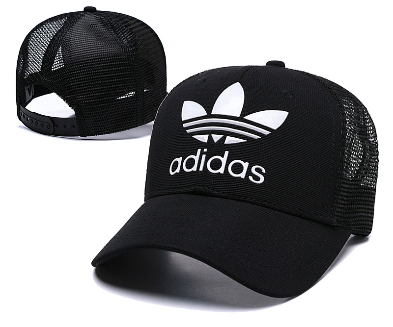 Adidas Originals Classic Black Mesh Peaked Adjustable Hat TX