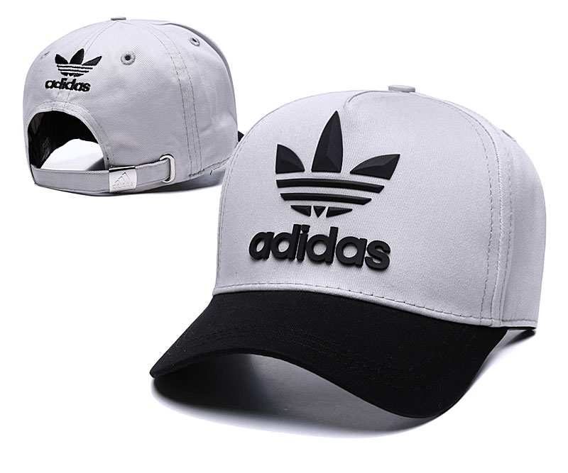 Adidas Originals Classic Gray Black Peaked Adjustable Hat TX