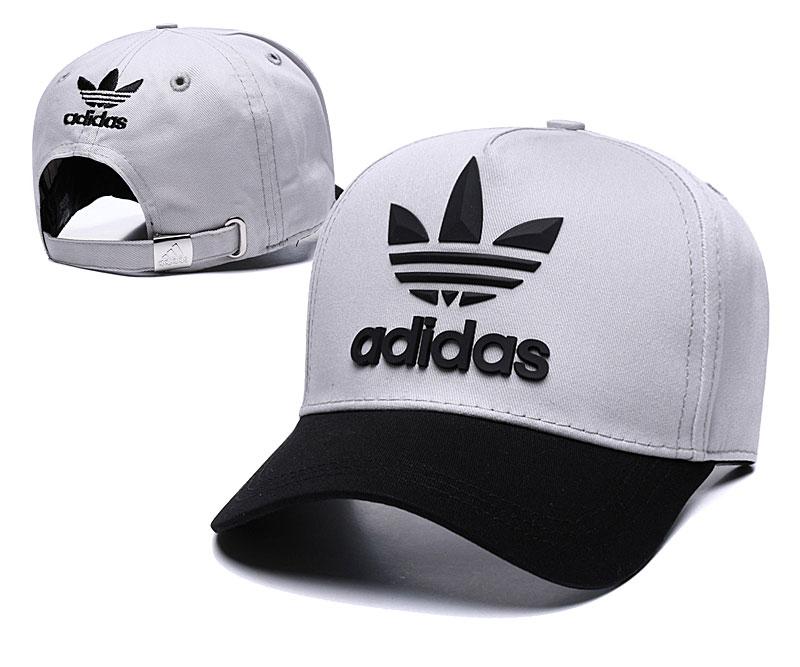 Adidas Originals Classic Gray Black Peaked Adjustable Hat TX
