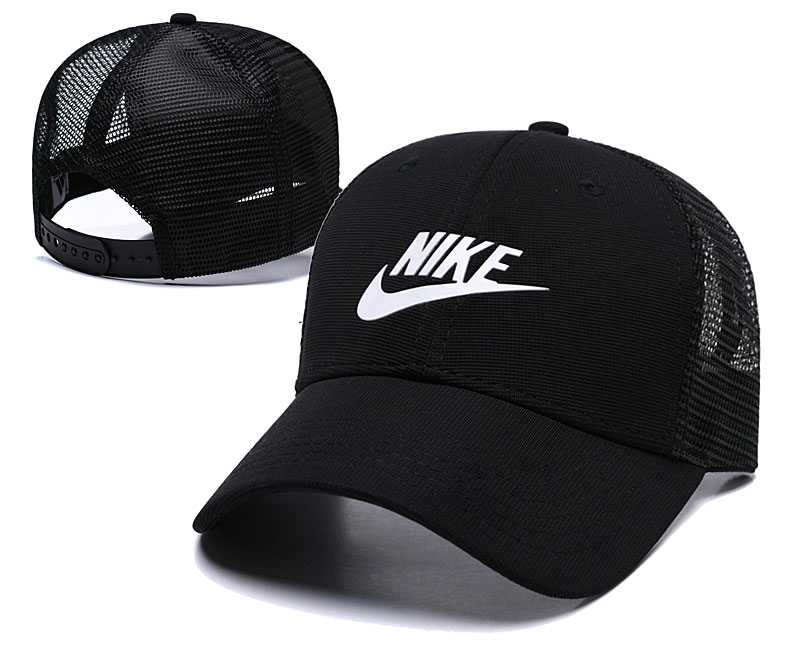 Nike Classic Black Mesh Peaked Adjustable Hat TX