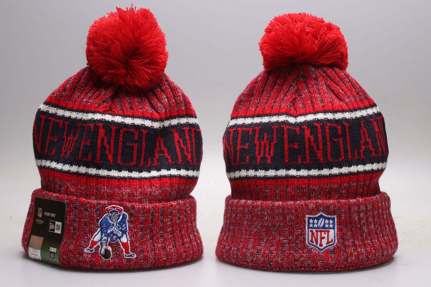 Patriots Retro Red Knit Hat YP