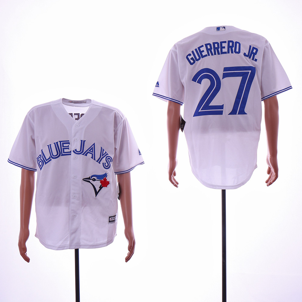 Blue Jays 27 Vladimir Guerrero Jr. White Cool Base Jersey