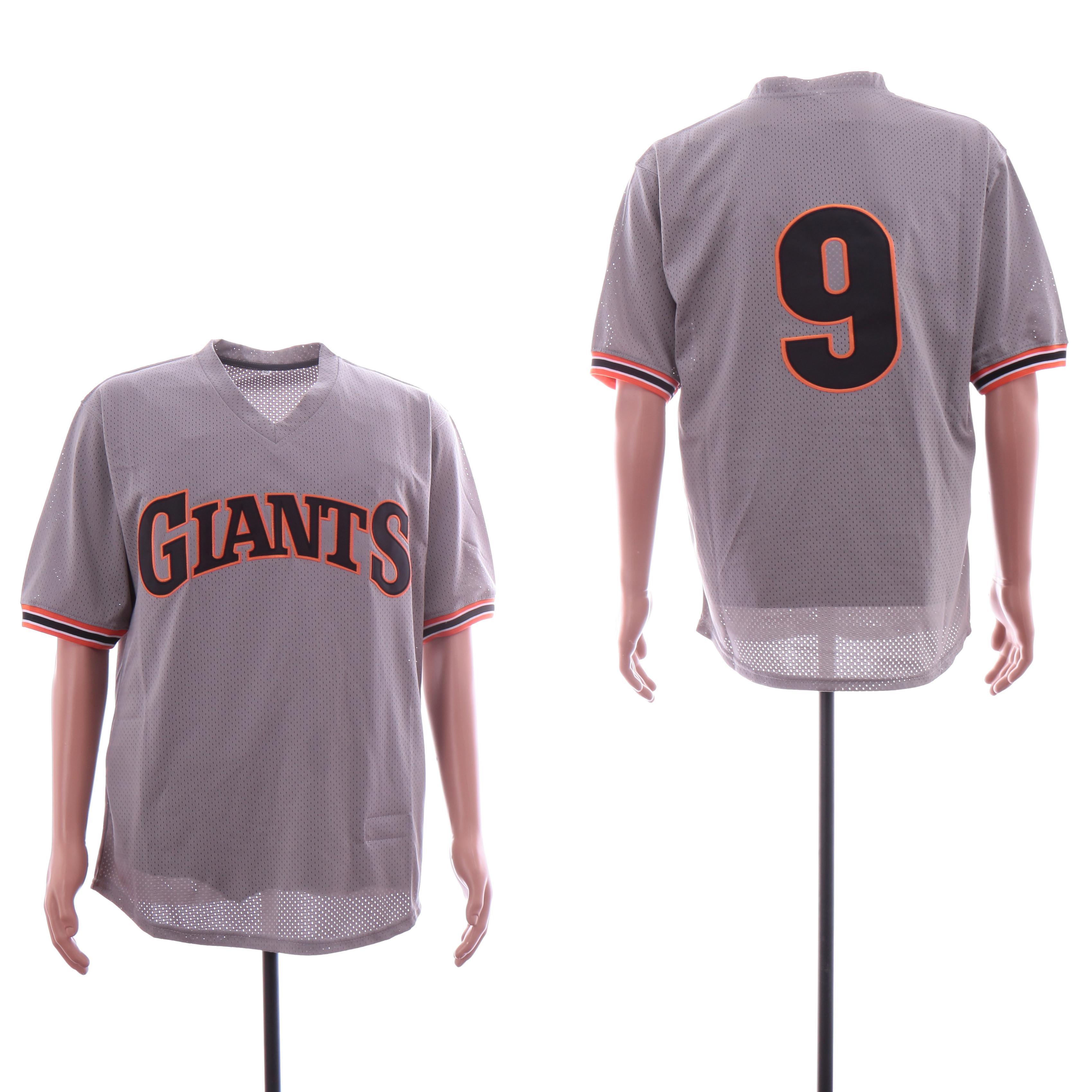 Giants 9 Matt Williams Gray BP Mesh Jersey