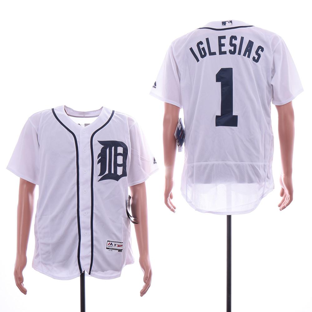 Tigers 1 Jose Iglesias White Flexbase Jersey