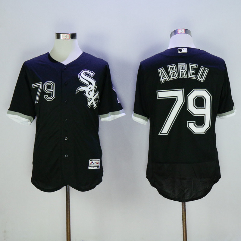 White Sox 79 Jose Abreu Black Flexbase Jersey