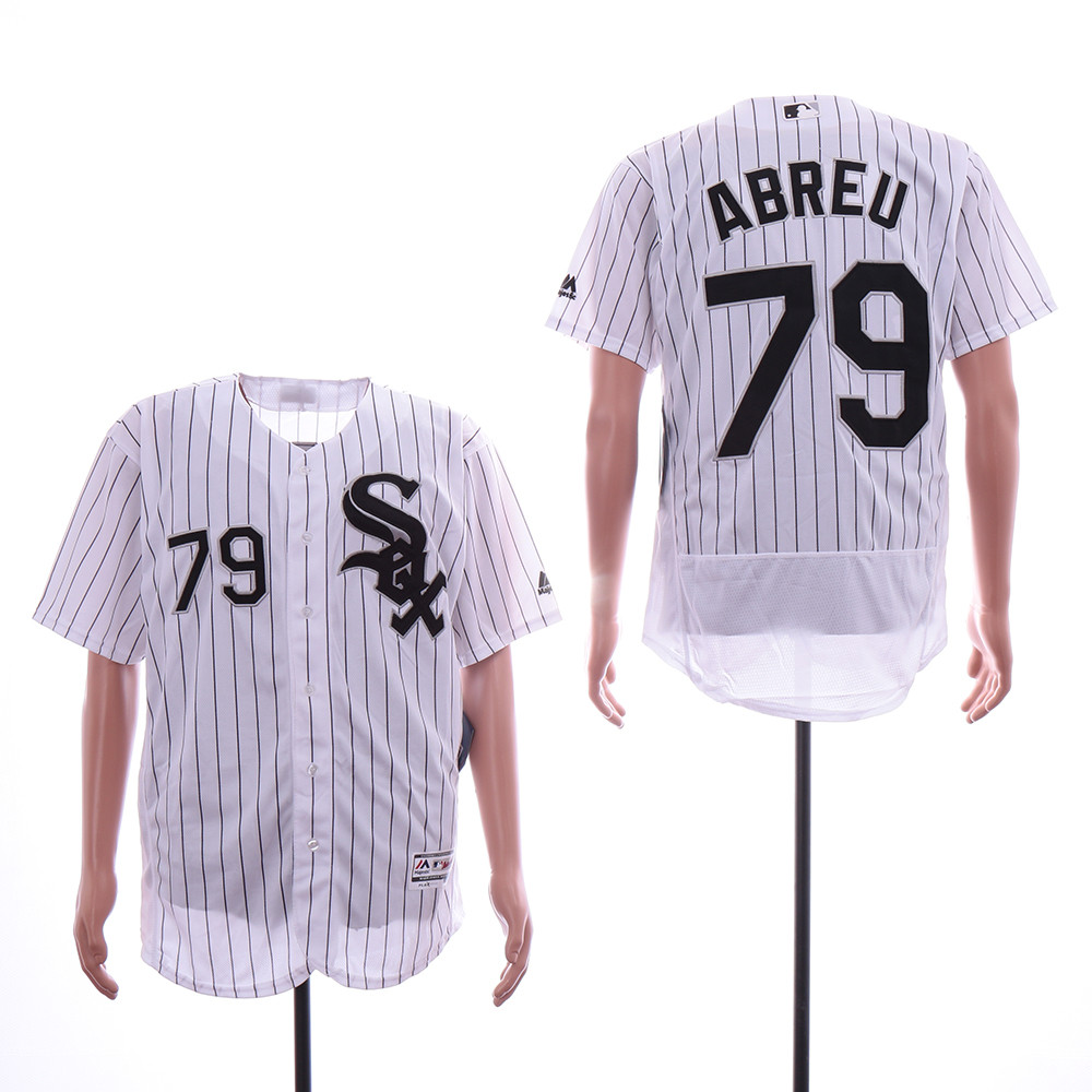 White Sox 79 Jose Abreu White Flexbase Jersey