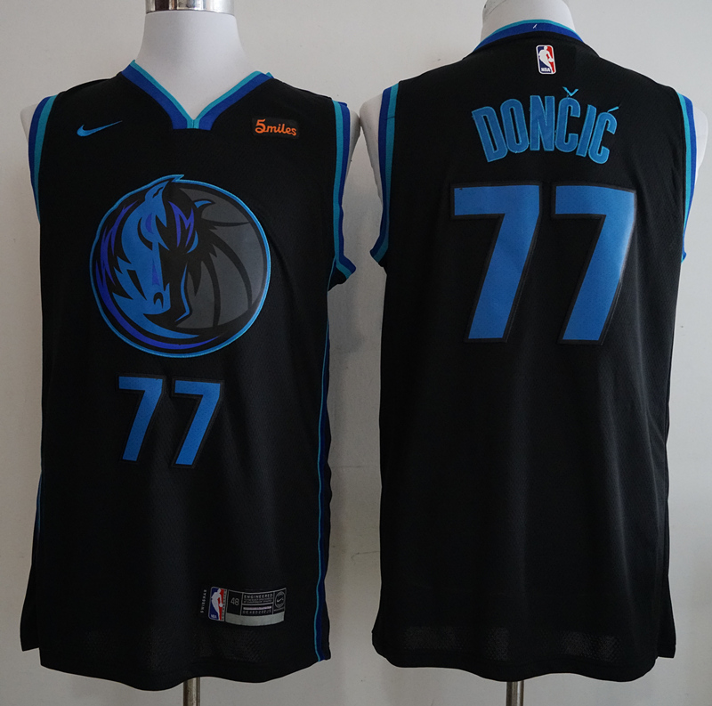 Mavericks 77 Luka Doncic Black 2018-19 City Edition Nike Swingman Jersey